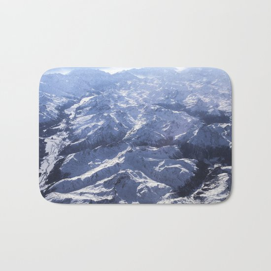 White mountains with snow winter nature Bath Mat