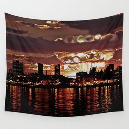 Angry Sunset. Wall Tapestry