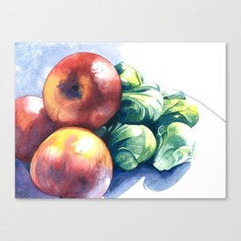 Apples and Sprouts Canvas Print