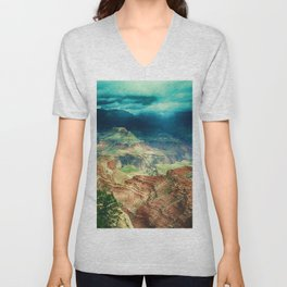 Grand Canyon Digital Paint Unisex V-Neck