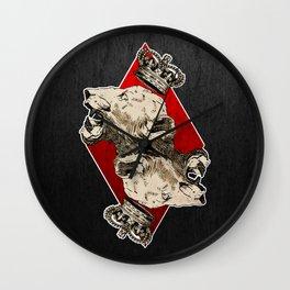 King of Diamonds Wall Clock
