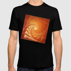The Burning Eye Sees Spiral MEDIUM Mens Fitted Tee Black