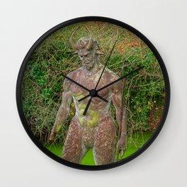 Jersey Satyr Statue Wall Clock