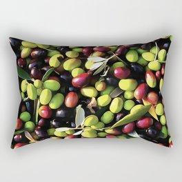 Organic Olives Rectangular Pillow