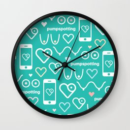 Pumpspotting App Pattern Wall Clock