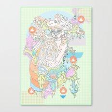 native & fluorescent pastels Canvas Print
