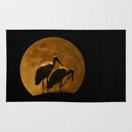 Stork's nest in the moon Rug