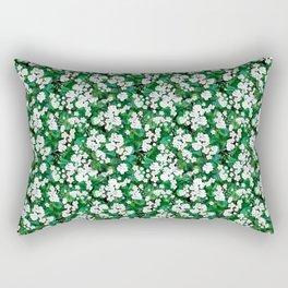 geranium print Rectangular Pillow