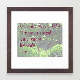 Moments Framed Art Print