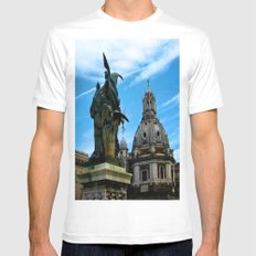 On Wing MEDIUM White Mens Fitted Tee