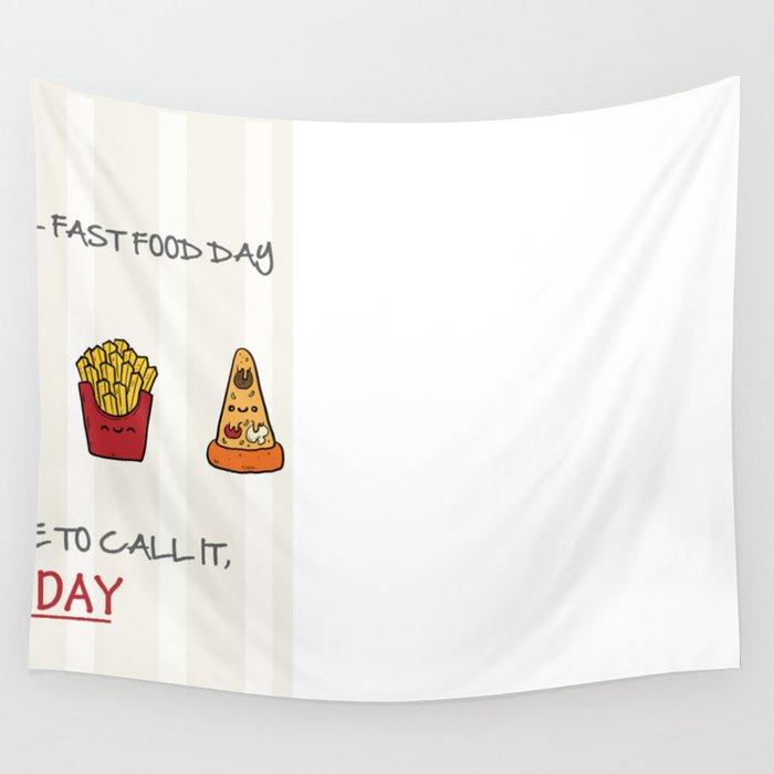FAST FOOD Wall Tapestry by cerenaksudikenci