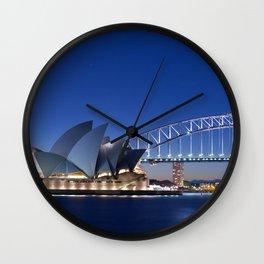 Sydney Opera House By Night Wall Clock