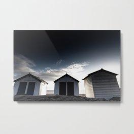 Huts on the sand Metal Print