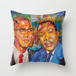 Malcolm X King Throw Pillow