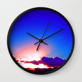 """""""Day's End  #273"""" with poem: Passing Days Wall Clock"""