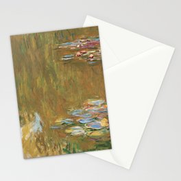 The Water Lily Pond by Claude Monet Stationery Cards