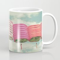 chinese Mugs featuring Chinese Lanterns by Cassia Beck