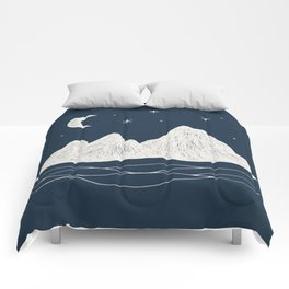 sonoran night Comforters
