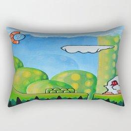 "'Orap' 12""x12"" Acrylic and Marker on Canvas 2013 Dan Gribben Rectangular Pillow"