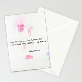 Pablo Neruda quote Stationery Cards