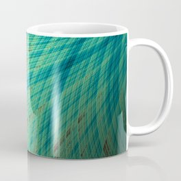 Run Off - Teal and Brown - Fractal Art Coffee Mug