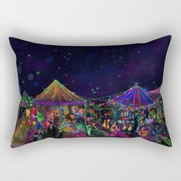 Magical Night Market Rectangular Pillow