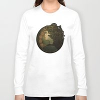 nouveau Long Sleeve T-shirts featuring Medusa Nouveau by Megan Lara