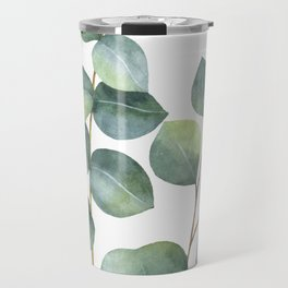Watercolor eucalyptus branches Travel Mug
