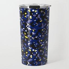 Starry night camouflaged pattern (Blue and yellow) Travel Mug