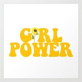 GIRL POWER SUNFLOWER Kunstdrucke
