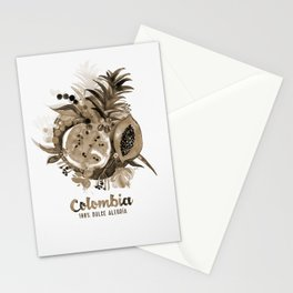 Fruits of Colombia | Frutas Colombianas | Sepia Stationery Cards