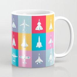 Classic Iconic Aircraft Pattern Coffee Mug