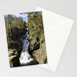 Waterfall - Crazy Mountains, Montana Stationery Cards