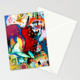 the nordic summer night Stationery Cards