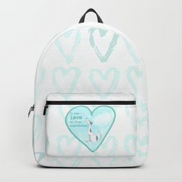 Love at first sight(hound) - Blue Backpack