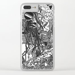 Fiddle Sticks Clear iPhone Case
