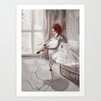 ballerina Art Prints featuring Ballerina by Monika Gross