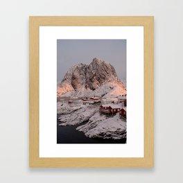 Sunrise Over Hamnøy, Norway Framed Art Print