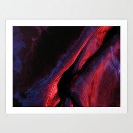 Purple textile background Art Print