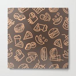 Fast-food pattern Metal Print