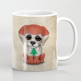 Cute Puppy Dog with flag of Lebanon Coffee Mug