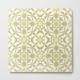 Light Through the Shadows- Mosaic Pattern Metal Print
