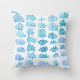 Fresh blue bathing beauty Throw Pillow