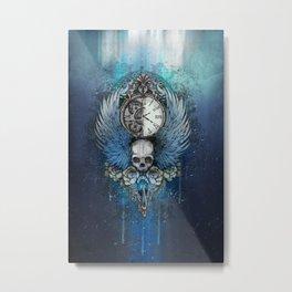 Wings of time - blue Metal Print