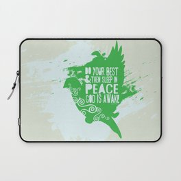 Sleep in Peace Laptop Sleeve