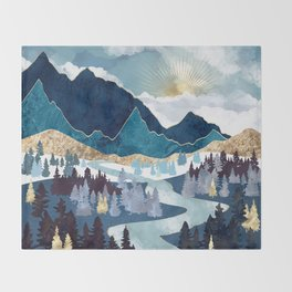 Valley Sunrise Throw Blanket