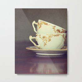 Two Tea Cups Metal Print