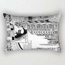 Buenos Aires Avenida 9 De Julio Rectangular Pillow