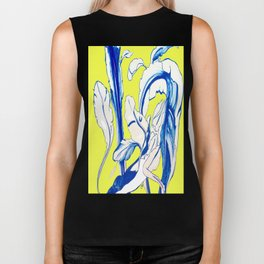 Plant in Blue Marker - Leaf of Life Miracle Leaf - Yellow Biker Tank