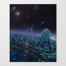 Living On Antaries - Vertical Cityscape Canvas Print